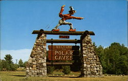 Entrance to Polar Caves Postcard
