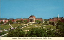 Campus Scene, Southern Methodist University Postcard
