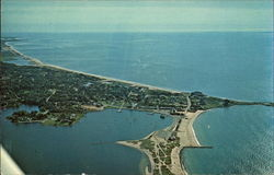 Arial View: Weekapaug, Watch Hill and Napatree Point Postcard