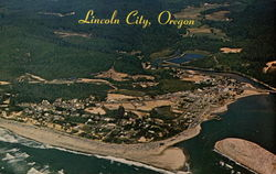 Aerial View - Lincoln City (Formerly Taft), Oregon Coast