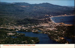 Aerial vieww, Port Orford Postcard