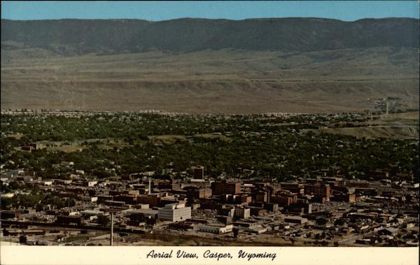 Aerial View of Casper Wyoming