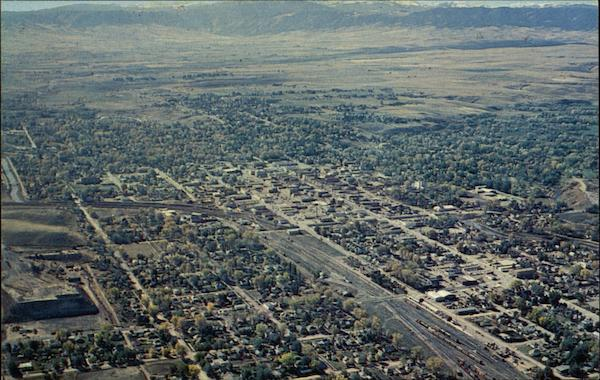 Aerial View of Sheridan, Wyoming