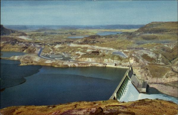 Aerial View of Grand Coulee Dam Washington
