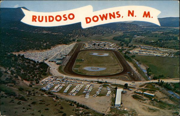 Aerial View of Ruidoso Downs, America's Fastest Growing Track New Mexico