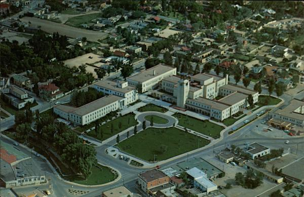 Aerial View of the State Capitol Santa Fe New Mexico