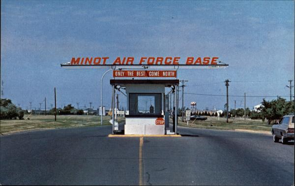 Minot Air Force Base Entrance North Dakota
