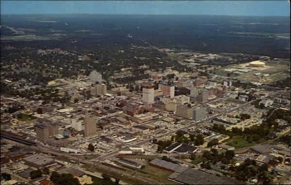 aerial view of jackson  looking northeast mississippi