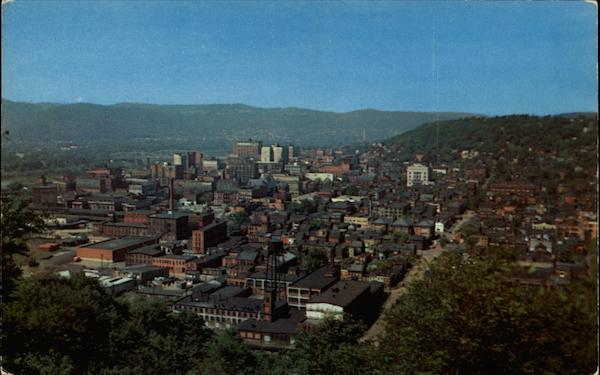 Birds Eye View of Wheeling West Virginia