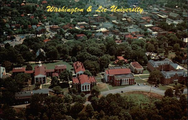 Aerial View of Washington and Lee University Lexington Virginia