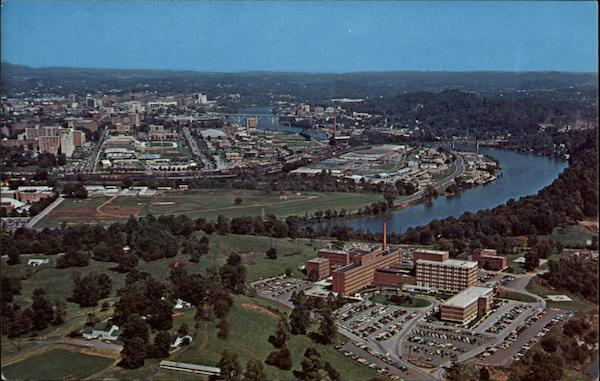 Aerial View of University of Tennessee Memorial Hospital and Business Section in Background Knoxville