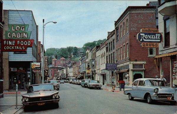 Looking South on Main Street Galena Illinois
