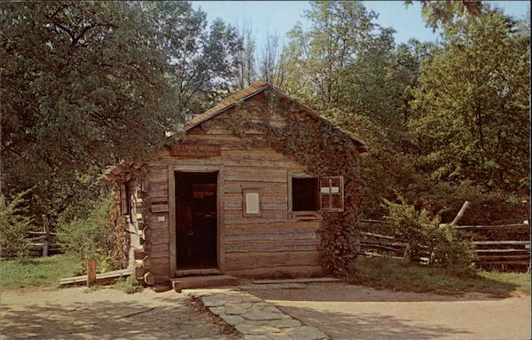 First Berry-Lincoln Store. U. S. Post Office, New Salem State Park Lincoln's New Salem Illinois
