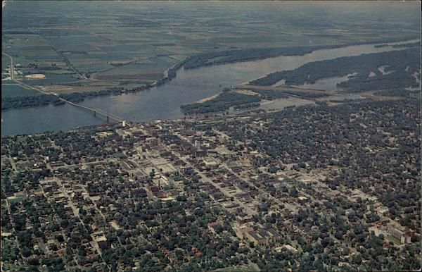Aerial View of Quincy Illinois