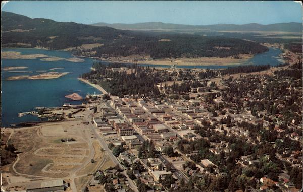 Aerial View of Couer D'Alene Lake Coeur D'Alene Idaho