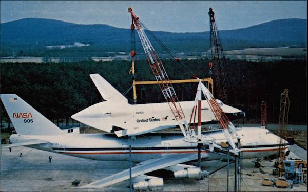 Preparations for Unloading Enterprise from 747 Carrier