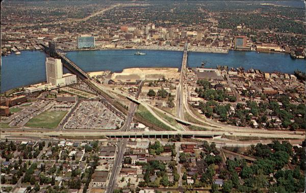 Aerial View of Jacksonville's Expressway, Showing Interchanges Florida