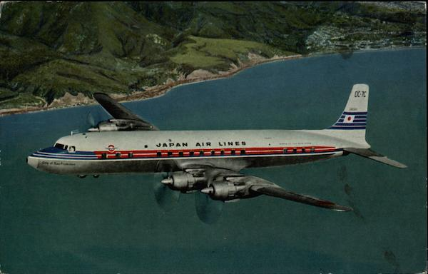 DC-7C Super Courier of Japan Air Lines Aircraft