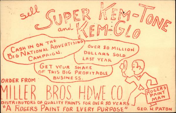 Sell Super Kem-Tone and Kem-Glo Advertising
