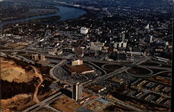 Aerial view of the city of Chattanooga, Tennessee