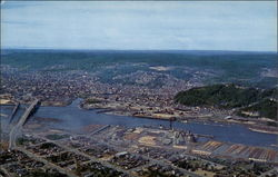 Aerial View of Aberdeen, Washington