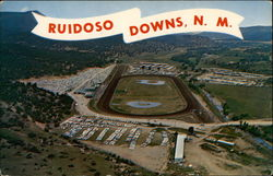 "Aerial View of Ruidoso Downs, ""America's Fastest Growing Track"""