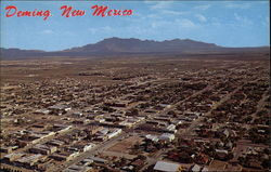 Aerial View of Deming, a Bustling Town in Southern New Mexico on Interstate 10