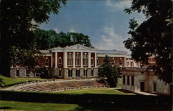 McIntire Amphitheatre and Cooke Hall, University of Virginia Postcard