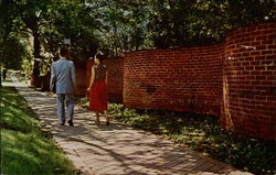 The Famous Serpentine Wall at University of Virginia Postcard