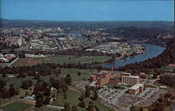 Aerial View of University of Tennessee Memorial Hospital and Business Section in Background