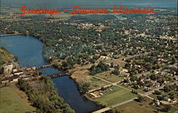 Air view of Shawano, Wisconsin