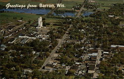Aerial View of County Seat of Barron County
