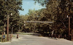 Entrance - New Salem State Park Postcard