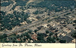 Aerial View of Des Plaines, looking northeast