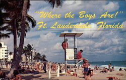 """Where The Boys Are"" Postcard"