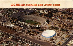 Los Angeles Coliseum and Sports Arena Postcard