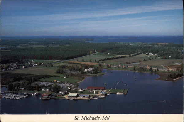 Aerial view of Chesapeake Bay St. Michaels Maryland