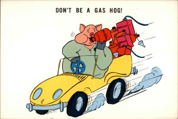 Don't be a gas hog! Comic, Funny