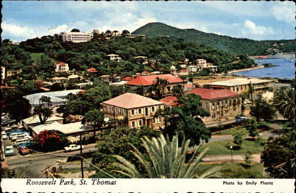 Roosevelt Park, with Bluebeard's Castle in Background St. Thomas Virgin Islands