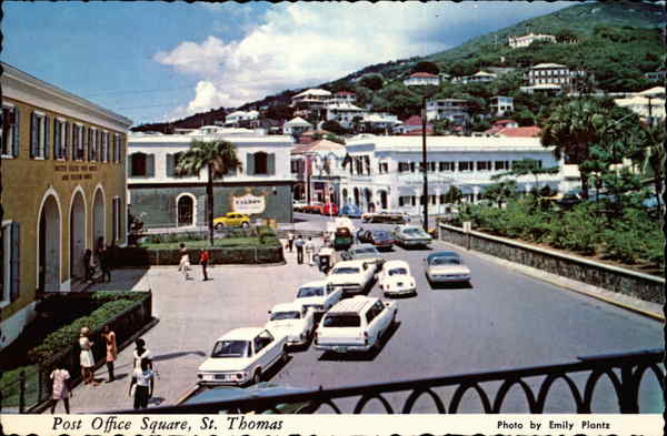 Post Office Square St. Thomas Virgin Islands Caribbean Islands