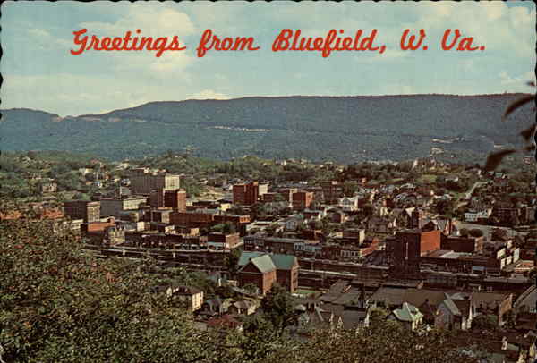 Beautiful Aerial View of Bluefield West Virginia