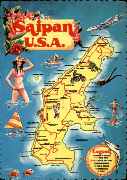Sketch Map Of Saipan U S A Maps