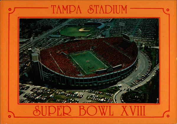 Tampa Stadium Super Bowl XVIII Florida