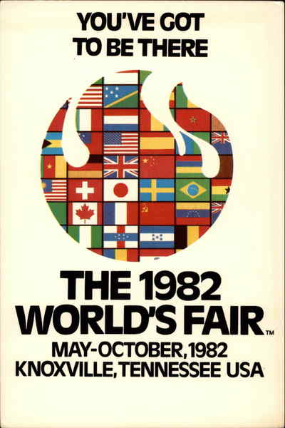 The 1982 World's Fair, May-October, 1982 Knoxville Tennessee