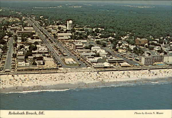 Aerial view of Rehoboth Beach Delaware