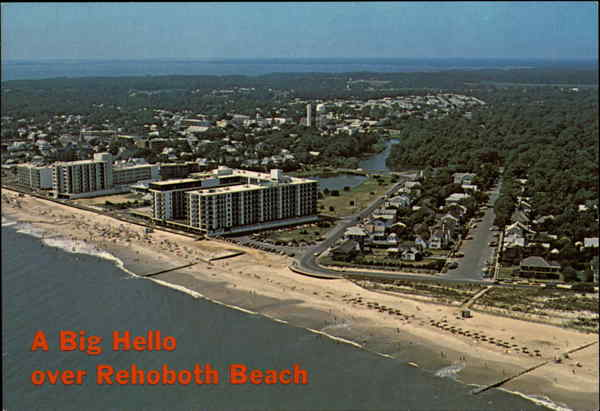 A Big Hello over Rehoboth Beach Delaware