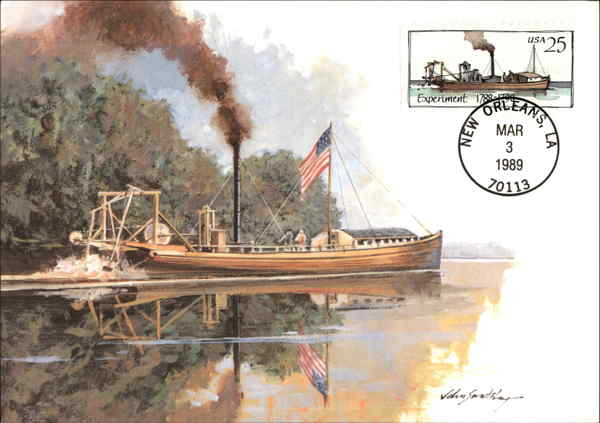 Steamboat Experiment- 1788-1790 First Day of Issue: March 3, 1989
