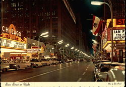 State Street at Night Postcard