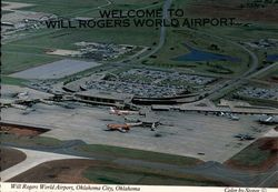 Welcome to Will rogers World Airport Postcard