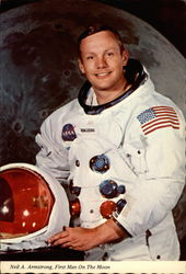 Neil A Armstrong, First Man On The Moon